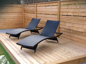 2 chaises longues modernes /set of 2 modern patio lounge chair