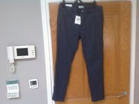 Ladies Leather Look Calvin Klein Trousers NEW WITH TAGS