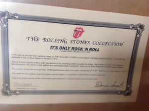 Rolling Stones Framed It's Only Rock 'N Roll Numbered Lithograph Oakville / Halton Region Toronto (GTA) image 3