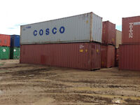 40' used shipping container for sale or rent