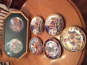 Selection of Canadian War Commemorative Plates