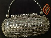 Clutch bag - Beautiful intricate Metal design Bridal/ Evening BAG