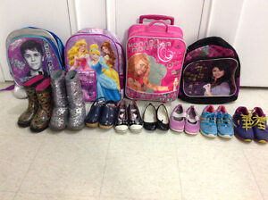 ASSORTED SHOES & SCHOOL BAGS IN PERFECT CONDITION