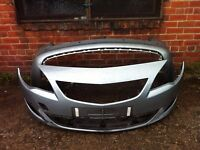 Vauxhall Astra J estate 2010 2011 2012 genuine front + rear bumper PDC holes