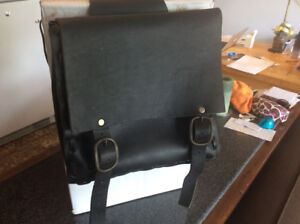 MOTORCYCLE BIKE CUSTOM THROW OVER DOUBLE SADDLE BAG