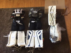 Goalie pads chest protector pants reebok warrior bauer