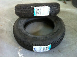 two fiat tires for sale still have stickers  fiat 126p4 (500)