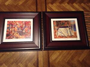 Tom Thomson (Group of Seven) 2 Framed numbered prints!