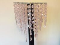 Pink Acrylic Crystal Chandelier Pendant Ceiling Light Shade Girls Modern