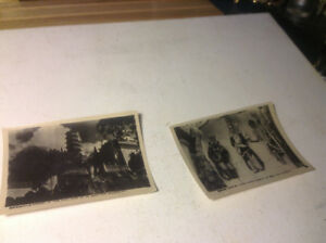 Antiques Photo 2 PC Three Ghosts Kings In Aw Boon Haw Mansion #