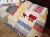 White Company Cowboy Cot bed bedding