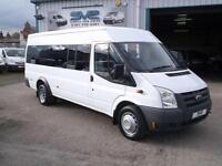 2009 09 FORD TRANSIT 17 SEAT SEATER MINI BUS WITH ULTRA LOW 7000 YES 7K MILES