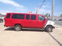 2003 Ford E-350 Red Wagon