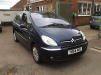 2004 CITROEN XSARA PICASSO HDI EXCLUSIVE BLUE 12 MONTH M.O.T.
