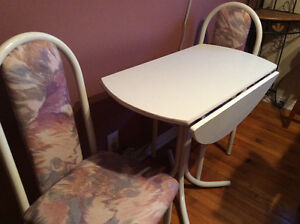 Excellent condition, sturdy table and 2 chairs