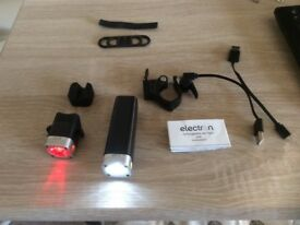 Electron front and rear bike lights