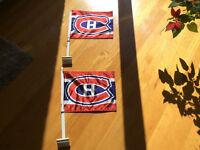 2 drapeaux des canadiens pour auto