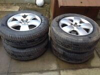Car tyres and wheels