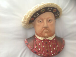 Bossons  chalkware wall plaques , Henry VIII and 2 wives