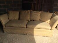 Laura Ashley Gold Knole Sofa