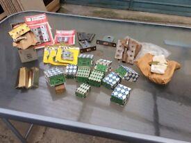 assorted hinges , screw etc