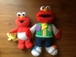 Lot / 2 Sesame Street Elmo School Learing ABC and Good Night Bed