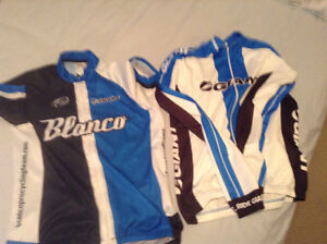 Bicycle jersey and matching jacket