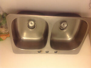 Kitchen Double sink 31 by 21 inch