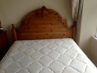 Small double bed wood frame and mattress