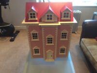 Beautiful Pink Georgian Dolls House