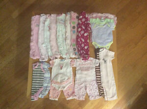 Baby girl's clothing - size 3 months and  3 to 6 months