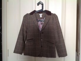 Beautiful brown girls fitted jacket from Monsoon