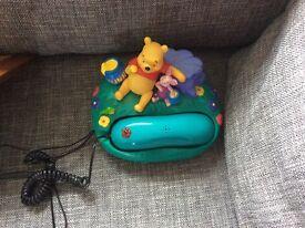 Novelty Winnie the Pooh phone. Working phone.