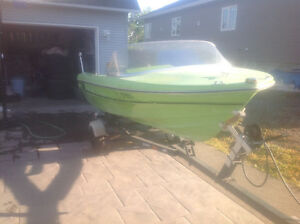 16 ft. Fibreform fibreglass Boat with 70 horse power Evinrude.