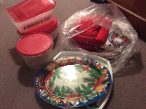 Christmas Placemats, Trays, Containers, Towels, Tablecloths