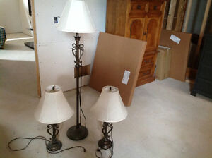 Living Room Lamp Set