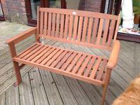 NEW 1.2m hardwood bench