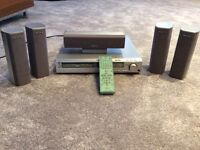 SONY DVD & CD player with 4 speaker plus bass woofer surround system.