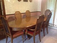 DINING ROOM SET - SKYPEPPLAR  - TABLE, CHAIRS, CABINET