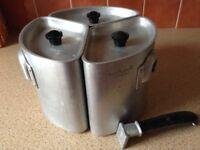 Vintage Swan Triple Trio Aluminium pans
