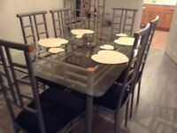 Dining table and unit