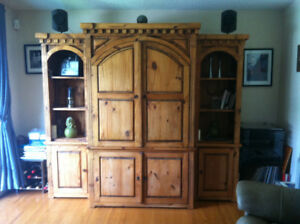 Mexican Furniture- Cabinet, coffee table, end tables, side units