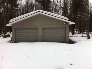 Two Car Garage on Little Lake Joseph