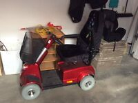 Red Mobility Scooter - heavy duty