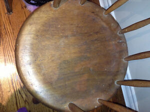 Antique plank seat captain's chair for sale London Ontario image 2
