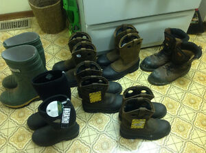 7 New men's woman's  boots,work,leather,rubber,safety 20 dollars