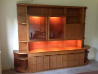Vintage teak display unit, bar and sideboard.