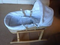 Claire du Lune Moses Basket and Crib