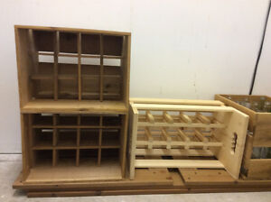 Wooden Boxes for carrying and storing wine bottles
