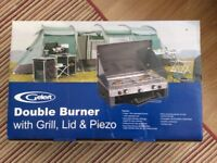 Gelert Double Burner with Grill